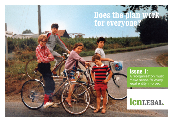 "LCN Legal has just launched its 'family photos' postcard campaign to help finance and tax professionals understand key legal issues affecting group reorganisations. The first postcard deals with the issue of corporate benefit, and is shown below. Thanks to Word of Mouth Communication for the concept and the design. Links to the other postcards in the series can be found at the end of this article. Every company director owes a personal duty to ""exercise independent discretion"" in considering each decision affecting that company. In general, the directors of a company can only take into account the interests of the wider group if they are satisfied that their own company's interests are protected – including, in particular, the interests of the company's creditors. A wide range of detailed rules exist to back up this principle – including provisions dealing with wrongful trading, transactions at an undervalue, financial assistance and so on. The courts will not hesitate to hold directors to account, especially when third party creditors are adversely affected. This can involve the risk of personal liability for directors and disqualification. In practice, the issue of corporate benefit affects two key aspects of a group reorganisation project. Firstly, at the planning stage, it is important to look at each of the proposed steps from the perspective of each individual participating company, and make sure that they make sense. Careful thought should be given before allowing a company to give away assets, waive debts, sell assets for less than they are worth, take loans subject to repayment terms it may not be able to meet, or make loans to borrowers who may not be able to repay the loan. Secondly, the project's decision-making process should allow the individual boards of directors to exercise proper discretion in deciding whether to approve the relevant steps. It is usually best practice to explain the proposed steps in a board paper or equivalent document, which is then circulated to the relevant directors for consideration. Read the other postcards in this series: Issue 1: Does the plan work for everyone? Issue 2: What's it worth to you? Issue 3: How should we balance risk against cost? Issue 4: Can we release our assets? Issue 5: Are people getting something for nothing?"