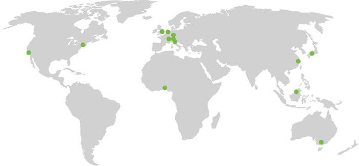A map showing LCN Legal's international reach