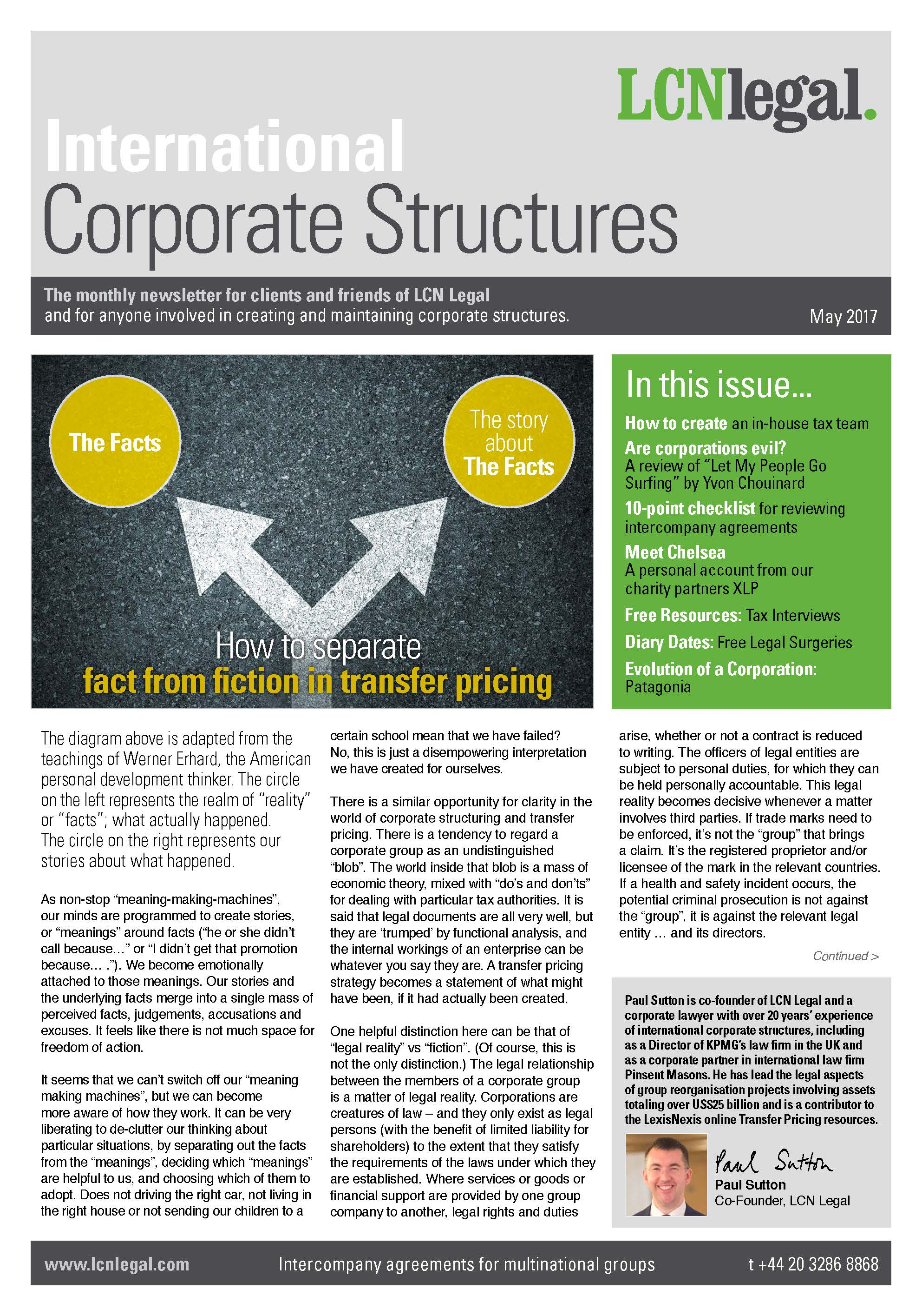International Corporate Structures Newsletter – May 2017 | LCN Legal