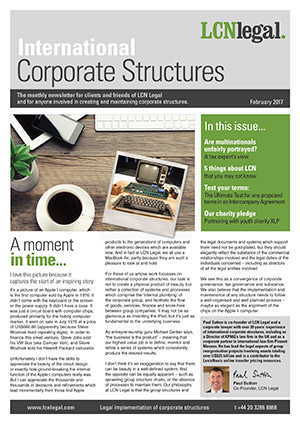 International Corporate Structures Newsletter - February 2017