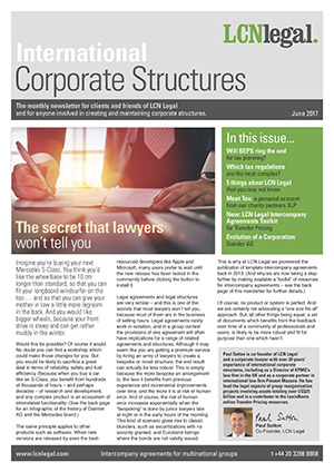 International Corporate Structures Newsletter - June 2017