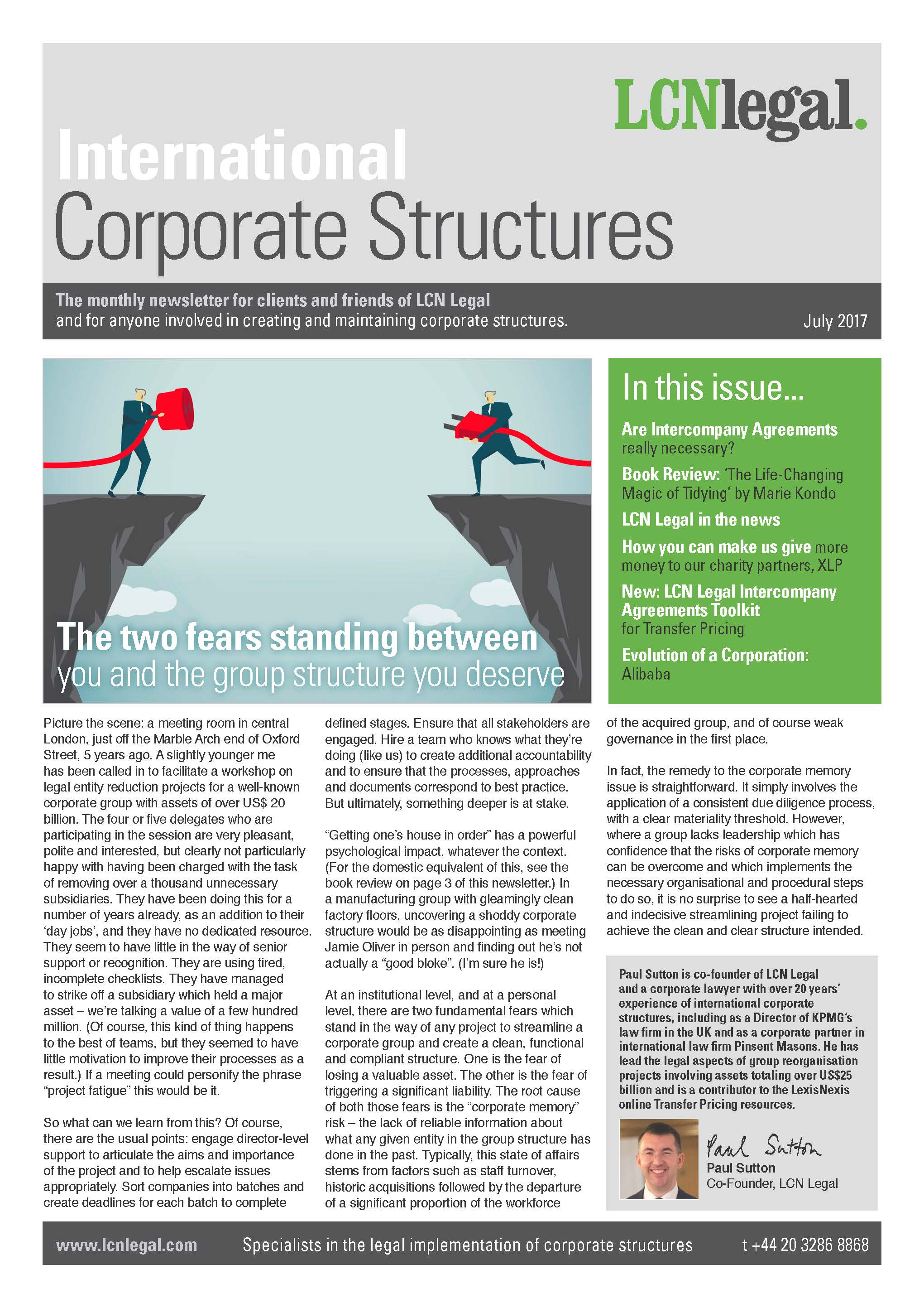 International Corporate Structures Newsletter - July 2017
