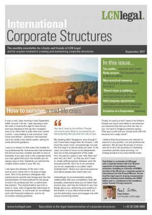 Corporate Structures Newsletter - September 2017