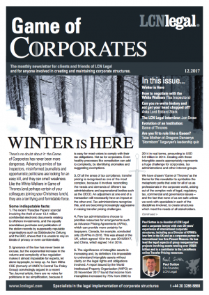 Game of Corporates - December 2017