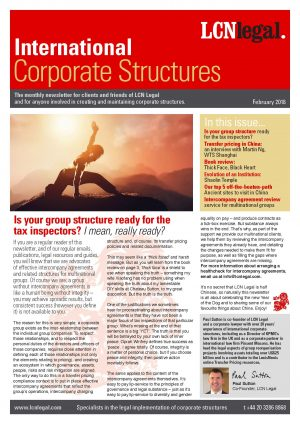International Corporate Structures Newsletter - February 2018