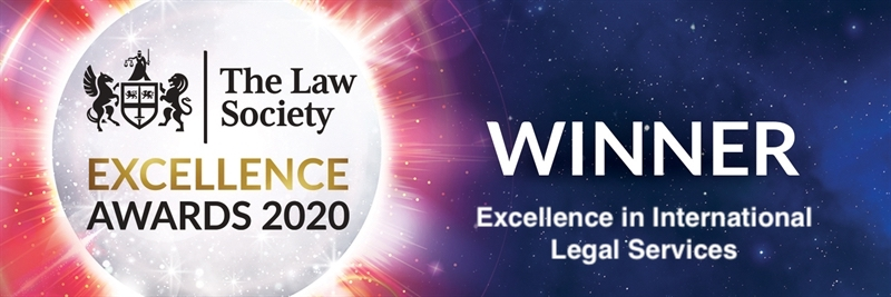 Winner - Excellence in International Legal Services